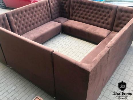 Угловой диван для кафе бара ресторана